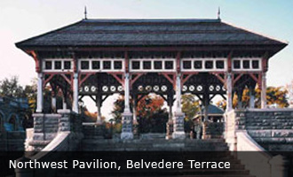 NORTHWEST PAVILION, BELVEDERE TERRACE, Central Park New York, New York