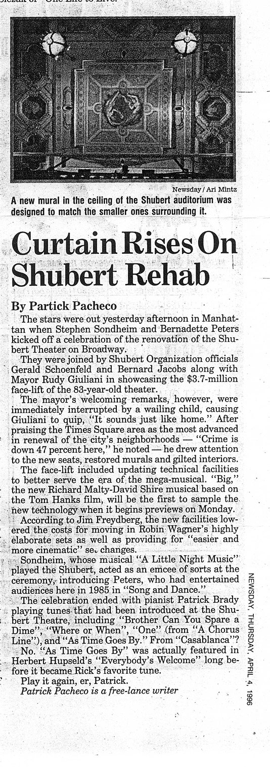 shubert-newsday-article
