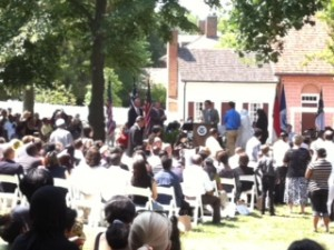 Becoming a new citizen at Old Salem on July 4th