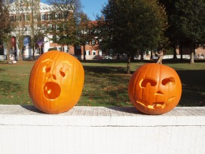 Carving Jack-o-lanterns for Old Salem