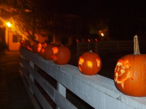 Jack-o-lanterns in Old Salem