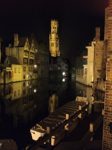 Looking towards the famous Bruges belfry