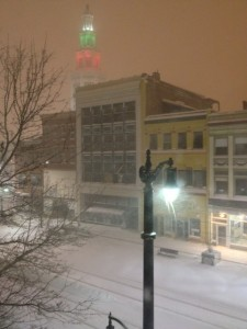 "The first snow storm of the season in Buffalo is the perfect way to end a very ""green"" year."