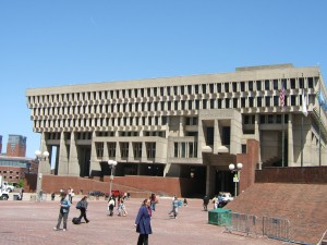 "Boston City Hall and its plaza have been the bellwether of discussions regarding the pros and cons of ""brutalism."""