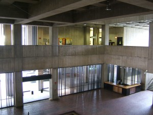 The expansive lobby in Boston City Hall.