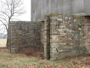 The grand foundation walls of Neutra's Cyclorama in Gettysburg, which was demolished last week.