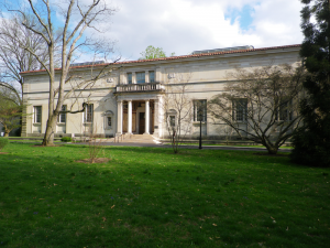 The original Barnes Foundation museum in Merion, Philadelphia where the foundation's headquarters remain. Courtesy Wikipedia.