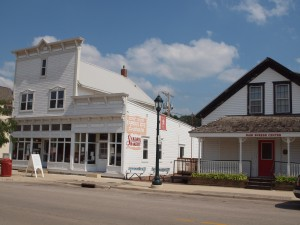 "Typical commercial buildings in the Czech Village in Cedar Rapids.  Here, both these old buildings and the 20 year old museum are considered ""historic."""