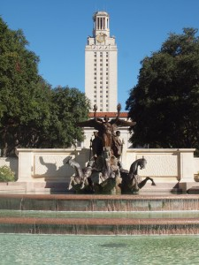 Paul Cret's Tower, at the Main Building on the University of Texas at Austin's historic campus.