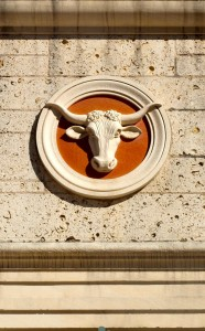 Every building on the UT Austin campus has some sort of fabulous sculpture, carving or architectural feature like their famous longhorns.