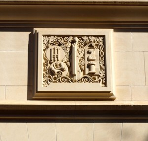 Limestone carvings abound on the UT Austin campus.