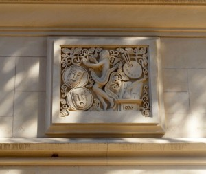 And another limestone carving seen on the campus.