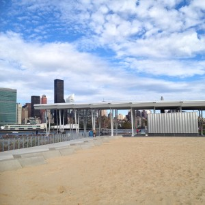 The beach and the Pavilion, which will soon have 64 solar panels that will power 50% of the park.