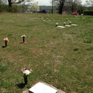 The African-American burial ground in Salem Cemetery.