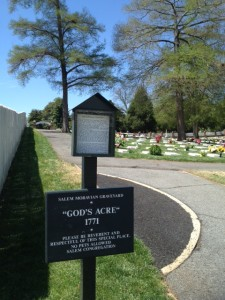 God's Acre, the Moravian Graveyard, in Winston-Salem, NC.