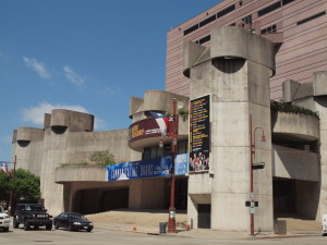 The Alley Theatre, a Brutalist landmark in downtown Houston designed by Ulrich Franzen, is undergoing a LEED Gold Rehabilitation.