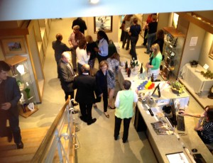 A wine tasting and juried architecture of Corning art show provided conference participants with a lively social venue.