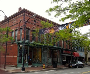 Market Street Restoration's 40th Anniversary included Glassfest, a celebration of Corning's glass history.