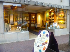 The West End Gallery on Market Street hosted the art show and conference reception.  Photo courtesy Anthony James.