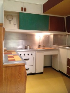 Charlotte Perriand designed this kitchen for L'Unite d'Habitation in Marseilles.