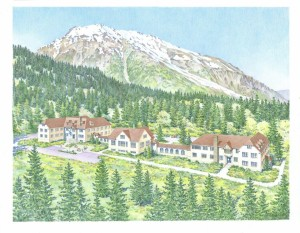 The Jesse Lee Home in Seward Alaska - a rendering of its original form.  Image courtesy Friends of the Jesse Lee Home.