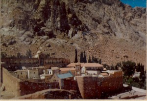 A visit to St. Catherine's Monastery on Mt. Sinai in 1995 initiated by environmental concerns.