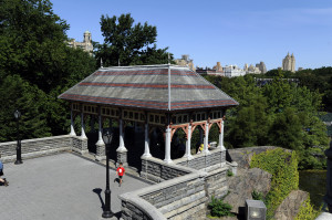 The Northwest Pavilion at the Belvedere Castle was restored with sustainably harvested wood and painted with low VOC paints in 1995, long before this was normal practice.  Photo Credit:  Jeffrey Kilmer