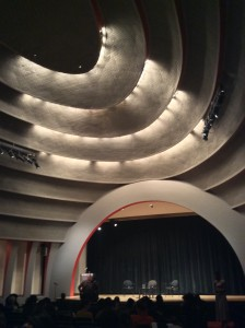 The New School Auditorium, designed by Joseph Urban, hosted Van Jones on February 9th.
