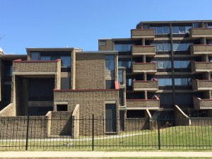 The Shoreline Apartments, designed by Paul Rudolph 1971-1974, are threatened with partial demolition.