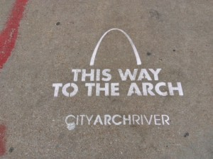 All roads lead to the Arch in St. Louis.