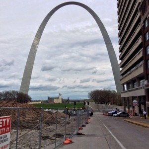 The Gateway Arch looks different from every vantage point.