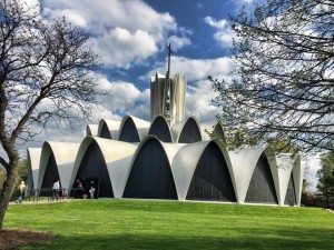 The Priory at the St. Louis Abbey is a glorious church built out of thin-shell concrete  hyperbolic paraboloids.