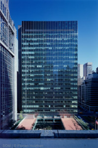 Lever House had its curtain wall replaced and maintained its landmark status. Photo courtesy SOM.