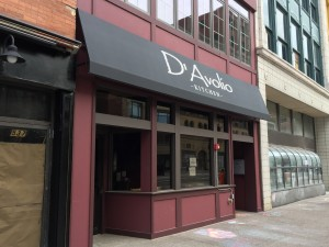 D'Avolio's, a new restaurant, is expected to open across the street from me next week.